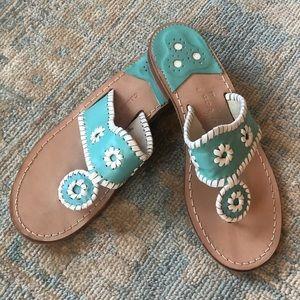 Jack Rogers Teal Navajo Sandals Size 8